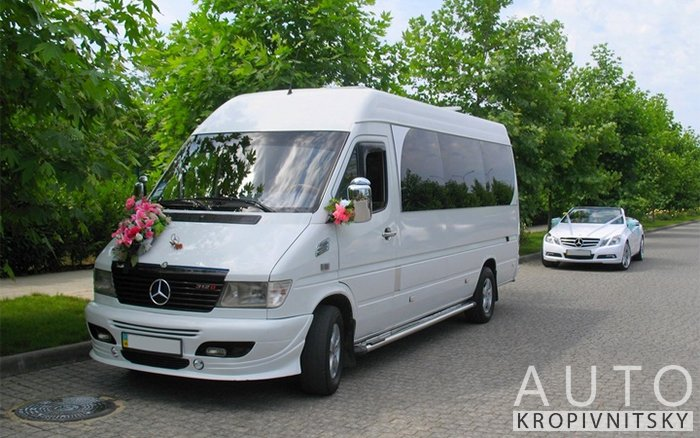 Аренда Микроавтобус Mercedes Sprinter на свадьбу Кропивницкий