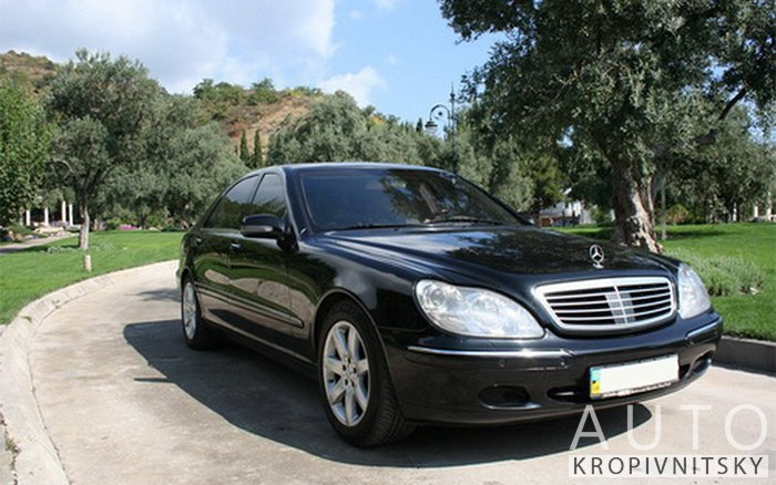 Аренда Mercedes S-class W220 на свадьбу Кропивницкий