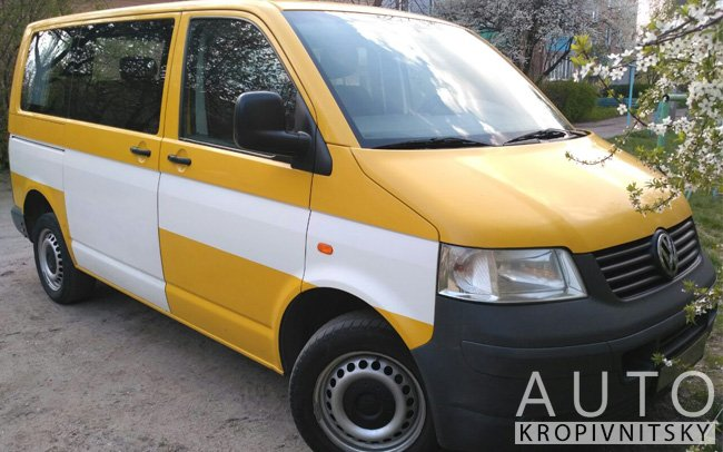 Аренда Микроавтобус Volkswagen Transporter T5 на свадьбу Кропивницкий