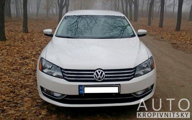 Аренда Volkswagen Passat B7 на свадьбу Кропивницкий