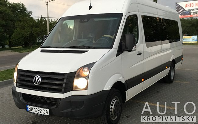 Аренда Микроавтобус Volkswagen Crafter VIP на свадьбу Кропивницкий